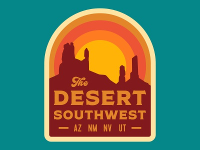 Desert Southwest arizona design nps typography desert southern utah outdoor badge illustration sticker adventure utah wilderness outdoors national park logo vintage retro patch badge