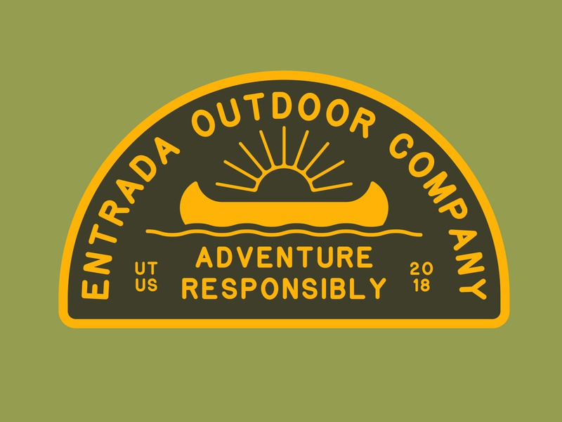 Entrada Camp 2 scout patch scout national monument branding outdoor badge nps illustration icon design sticker adventure utah wilderness outdoors national park logo vintage retro patch badge