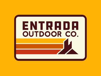 Entrada Retro vector branding southern utah outdoor badge illustration icon design sticker adventure utah wilderness outdoors logo vintage retro patch badge