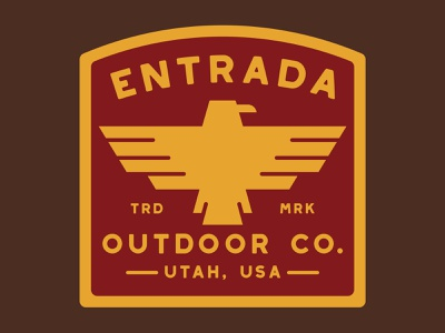 Entrada Thunder Bird wilderness badge southern utah outdoor badge nps illustration icon design sticker adventure utah wilderness outdoors national park logo vintage retro patch badge