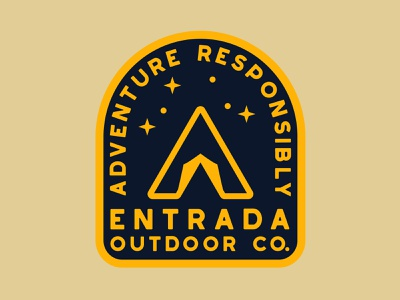 Entrada Star Camp branding national monument outdoor badge nps illustration icon design southern utah sticker adventure utah wilderness outdoors national park logo vintage retro patch badge