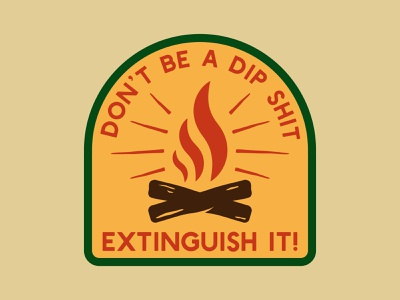 Extinguishit southern utah branding vector nps icon outdoor badge sticker camping camp mountains adventure wilderness outdoors illustration national park logo vintage retro patch badge