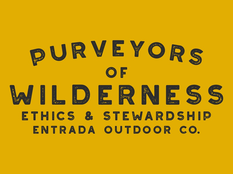 Purveyors design typographic typography type design typeface simple branding nps utah adventure wilderness outdoors national park logo vintage retro