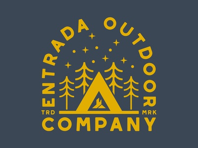 Entrada Co southern utah vector icon branding camp mountains outdoor badge illustration design sticker utah adventure wilderness outdoors national park logo vintage retro patch badge