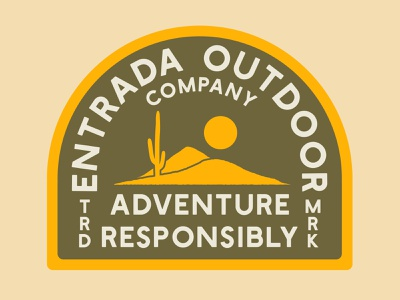 Adventure Responsibly Badge typography branding desert southern utah outdoor badge nps illustration icon design sticker utah adventure wilderness outdoors national park logo vintage retro patch badge