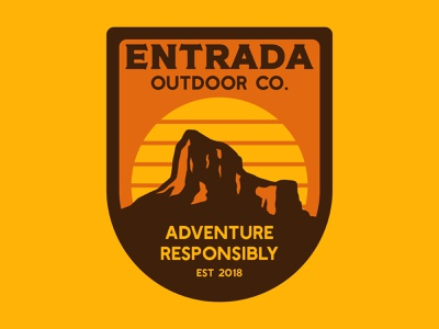 Entrada Mesa outdoor badge mountain badge mountain logo 1970s southwest arizona desert utah adventure wilderness outdoors national park logo vintage retro patch badge