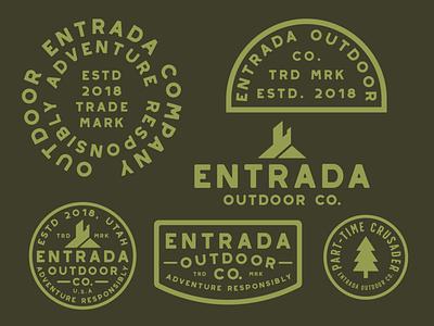 Entrada Type Badges branding outdoor badge icon adventure wilderness outdoors logo vintage retro patch badge