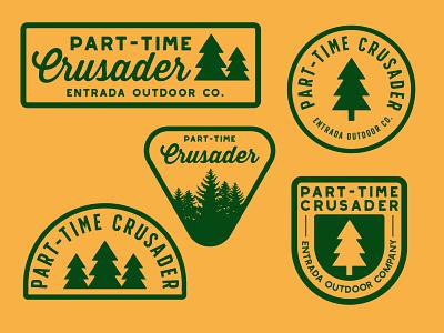 Part-Time Badges stewardship crusader outdoor logo patches design adventure wilderness national park outdoors logo vintage retro patch badge