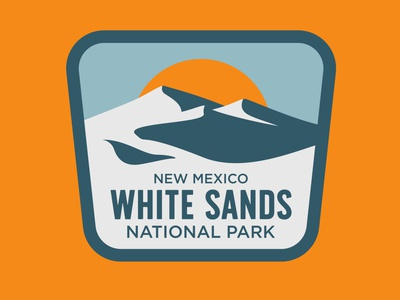 White Sands new mexico white sands outdoor badge design adventure national park wilderness outdoors logo vintage retro patch badge