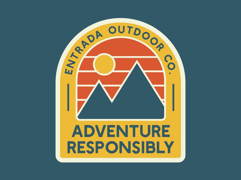Adventure Mountain Badge retro logo retro patch outside logo mountains outdoor badge national park adventure outdoors wilderness vintage retro patch badge