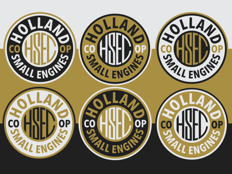 Holland Small Engines puch black gold logo badge type moped engines small holland