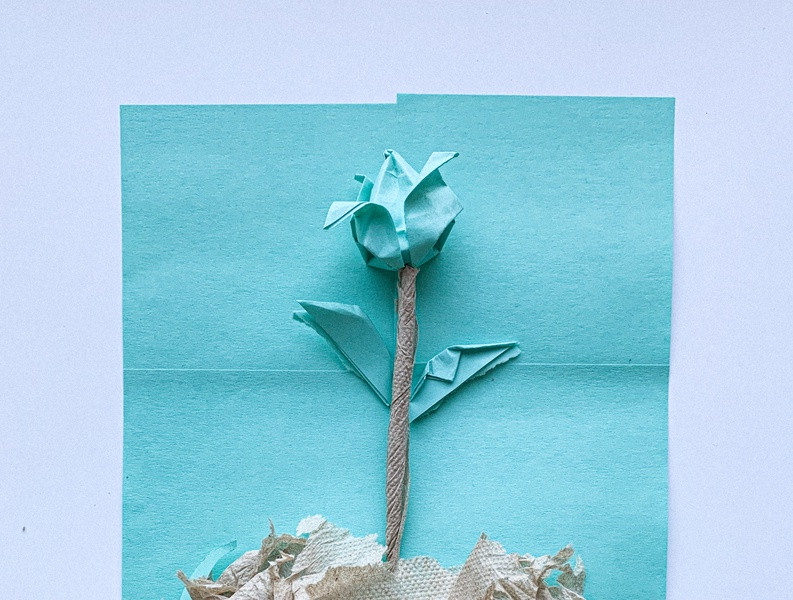 Isaiah 43:18-19 collage isaiah napkin note sticky bible art origami tulip flower