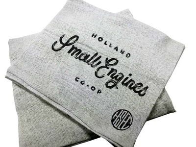 Shop Rags type script letter hand holland mockup engine small moped rag shop