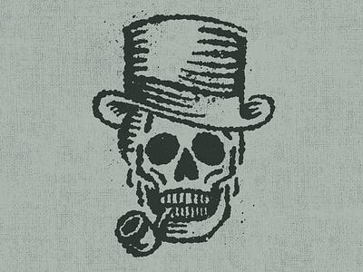 Inky Skull vintage hat top pipe skull