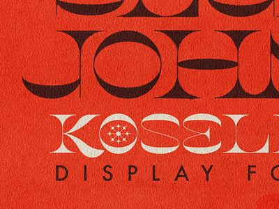Koselig Display cozy norway serif face type font koselig