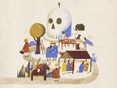 Steadfast Lenten Illustration bible parable worship jesus skull cross church lent