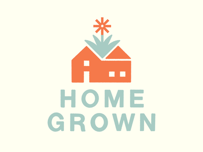 Home Grown print screen grow bloom wellness flower plant house