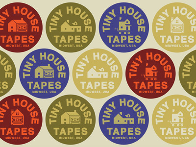 Tiny House Tapes midwest music badge brand logo home label tapes house tiny