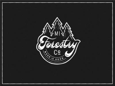 Forestry Vintage Script