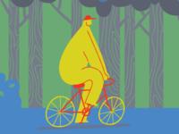 a big boy on a bike