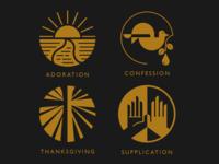 A.C.T.S. Prayer icons