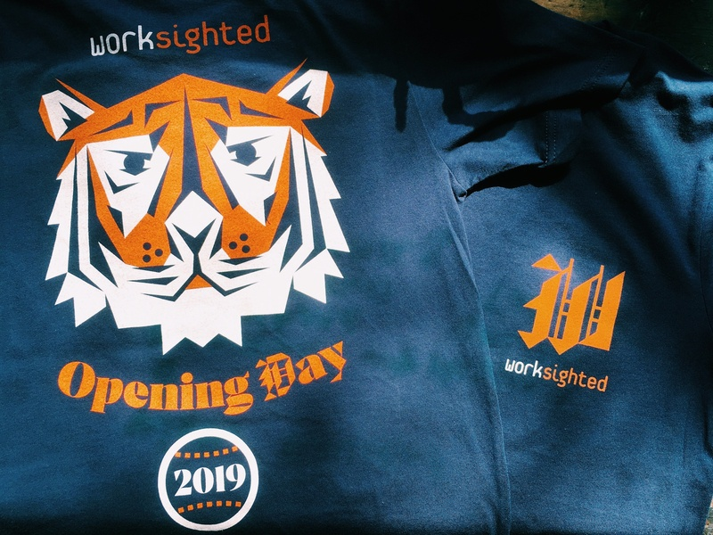 Tigers Opening Day black letter print screen w d baseball detroit tiger