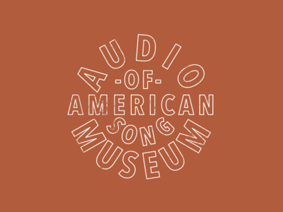 Audio Museum of American Song circle type letter logo crest badge song american museum audio