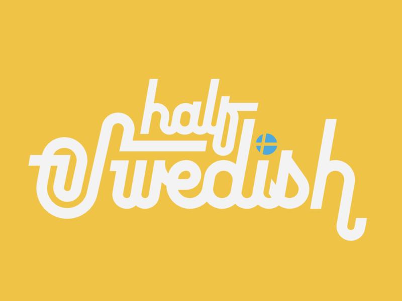 Half Swedish modern geo half logo type script letter hand scandinavian swedish