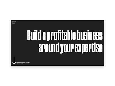 Personal Website - Homepage minimal typography web design website web ui personal website personal brand