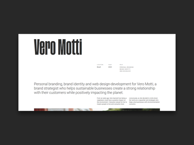 Personal Website - Project Page grid design grid layout web web design typography personal website personal brand minimal ui project page