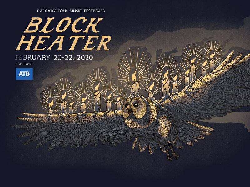 Block Heater Music Festival 2020 digital illustration music festival poster art poster illustraion
