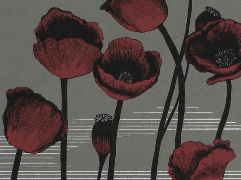 Papaver Somniferum dream sleep. magic ritual hound dog flowers papaver somniferum poppy witchcraft illustration