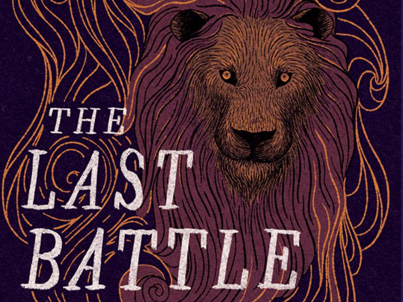 The Last Battle narnia hand lettering book cover book illustration illustration