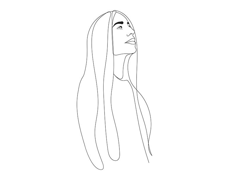 Line sketch sketch linework line girl graphic design illustration