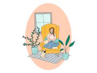 Home, tea, plants and pug