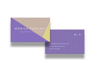 Mónica Pámanes icon brand branding identity logo stationery graphic design