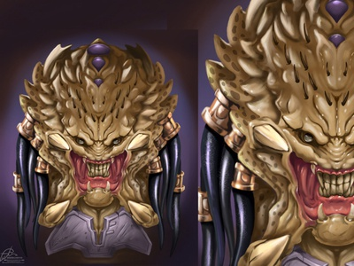 Predator fanart movie creatre creature digital art illustration aladecuervo fanart predator