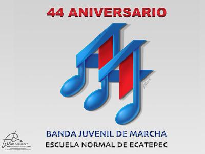BJM 44 anniversary isotype logo logo designer illustrated isotype marching band design isotype logodesign