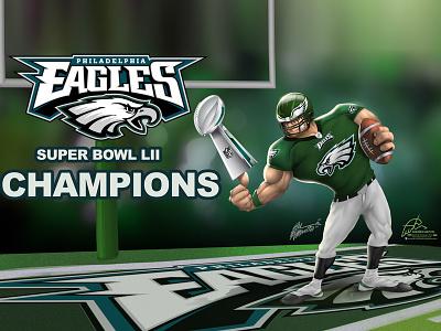 Eagles Nfl Champions super bowl lii fanart sports nfl philadelphia eagles