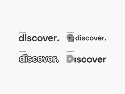 Logo Concepts for Discover minimal wireframe illustration web icon ux ui logo branding design