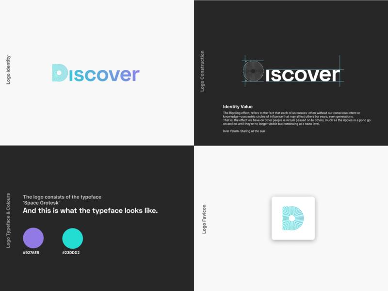 Discover Logo (Final) icon app ui popular illustration flat branding logo design debut