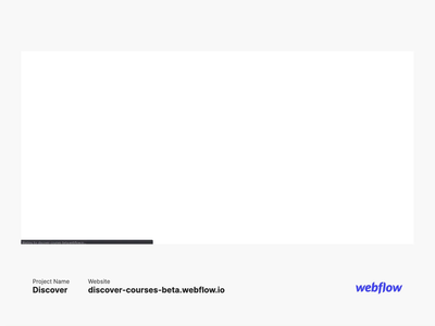 Preview of discover on webflow front-end development landing page landing design designer art designer cms branding icon popular user interface user experience high fidelity website design design web website webflow ui ux debut