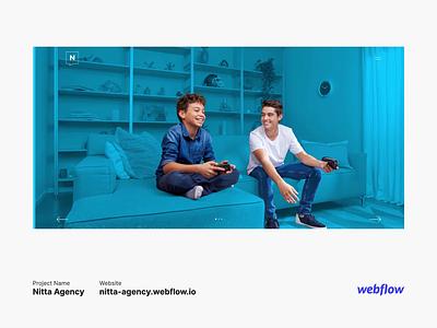 Nitta Agency Webflow Preview userinterface userexperience mobile app design mobile app html designer uidesign uiux ux ui website design landingpage cms web development webflow webdesign website