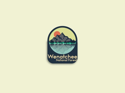 Wenatchee National Forest logo recent popular vector typography thirty logos logo illustration flat design debut branding