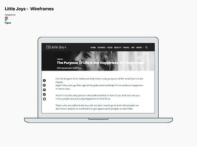 Little Joys Mid-Fi Wireframe debut recent popular figma sketch casestudy uiux website builder android ios webdesign webflow website minimal