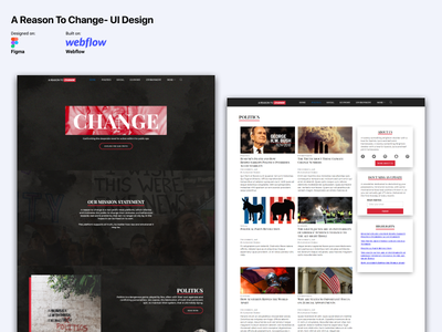 A Reason To Change UI Design webflow ui uiux casestudy interaction design wireframe figma ui design ios android website design web debut popular recent ux design design app mobile responsive bootstrap