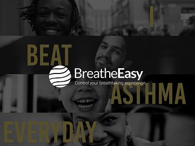 BreatheEasy- A UX Case Study prototype website design wordpress webflow google flat design logo recent debut popular casestudy asthma mobile app appdesign uiux material ui android ios materialdesign
