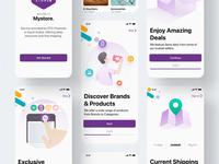Mystore E-Commerce minimal clean bright typography ux design logo illustration ecommerce gradient colorful