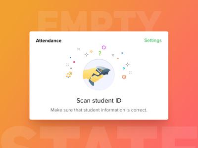 Student attendance Empty State - Bedopedia