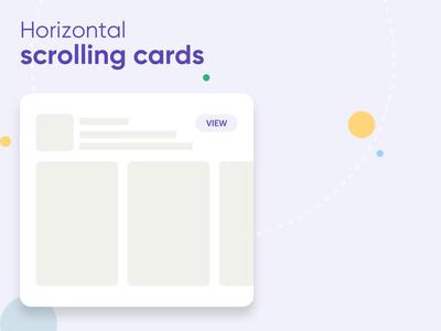 horizontal scrolling cards